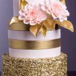 Gâteau mariage contemporain romantique