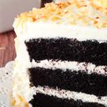 Gâteau Chocolat et ganache 'a la noix de coco