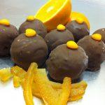 Gâteau Boule oranges confites (fait maison) et chocolat