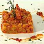 Camarão com Chuchu (Crevettes avec des Chayottes, piment du Bresil, farine de manioc du Para)