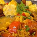 Cozido Caipira (Ragout à la tendre de boeuf avec des légumes et herbes brésiliennes)