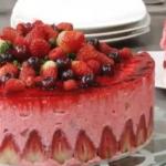 Gâteau Mousse à la Fraise (fruit au choix)