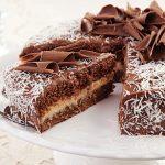Gâteau Prestigio (Biscuit au chocolat et ganache 'a la Noix de Coco)