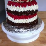 Gâteau Napolitain (framboise, Chocolat, Vanille)