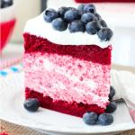 Gâteau red Velvet et ganache 'a la myrtille